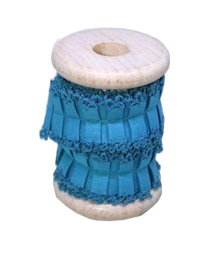 borten r sche blau t rkis garnspule holzspule webband borte. Black Bedroom Furniture Sets. Home Design Ideas