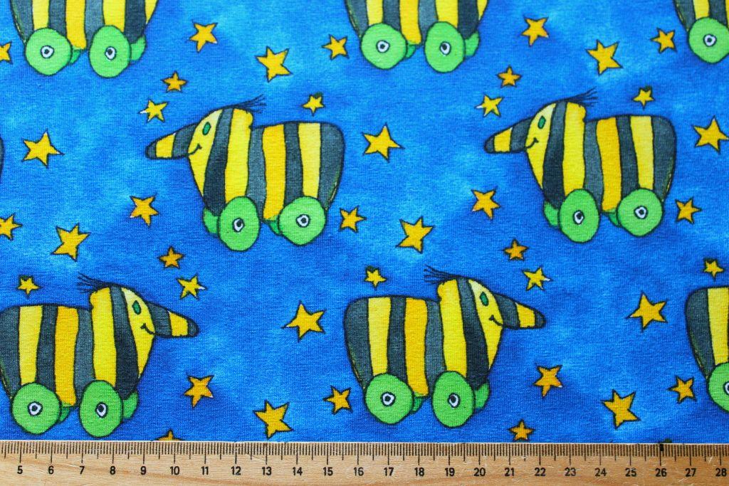 jersey kinder janosch tigerente blau jerseystoff. Black Bedroom Furniture Sets. Home Design Ideas