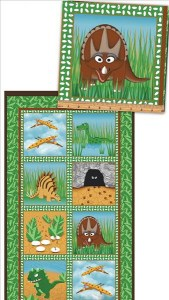 Dino Dinosaurier Panel Patchworkstoff
