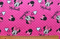 Minnie Mouse pink rosa Jerseystoff