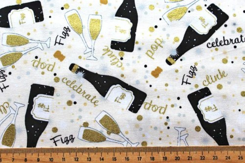 Sekt Prosecco Patchworkstoff