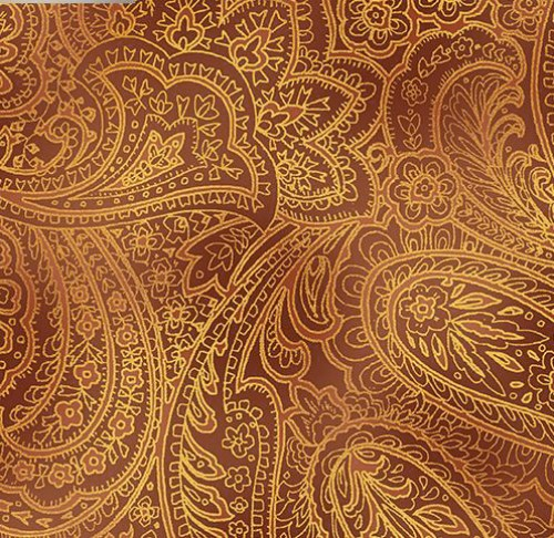 Paisley messing gold kupfer Patchworkstoff