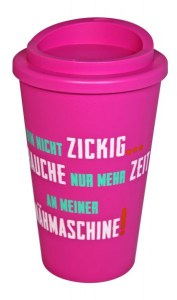 Coffee to go pink Deckel pink