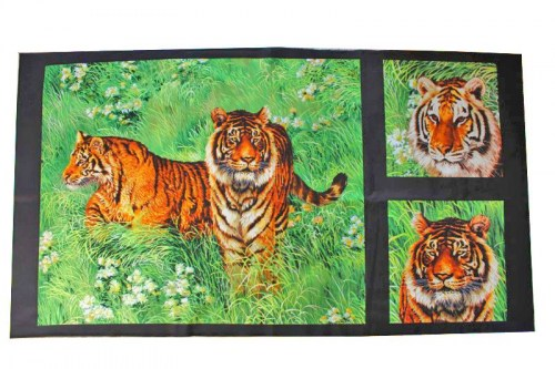 Dschungel Tiger Safari Patchworkstoff