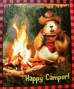 Waldtiere Happy Camper Panel Patchworkstoff