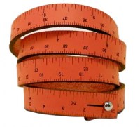 Maßband Armband Leder orange